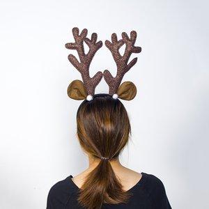 Elk Reindeer Antlers Kafa Geyik Boynuz Saç Bandı Çocuk Yetişkin Saç Aksesuarları doğum günü partisi Navidad Cadılar Bayramı Noel