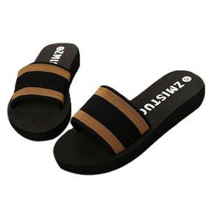 Summer Shoes Women Home Slippers Ladies Platform Bath Slipper Fashion Wedge Beach Flip Flops Female Casual Shoeses D3