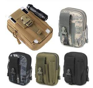 Marsupio Uomini Tactical Molle Pouch Marsupio Piccolo Pocket MILITARI Pouch da campeggio Borse del telefono mobile Portafoglio strumento di viaggio