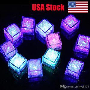 RGB led 큐브 빛 아이스 큐브 조명 플래시 액체 센서 물 잠수할 수 있는 LED 빛을 위한 샴페인 타워