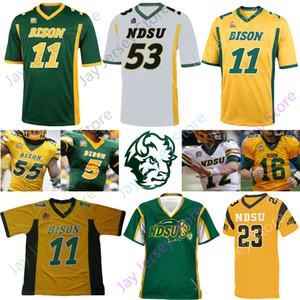 NDSU North Dakota State Bison Football Jersey NCAA Carson Wentz Trey Lance Ty Brooks Adam Cofield Christian Watson Sproles Tuszka