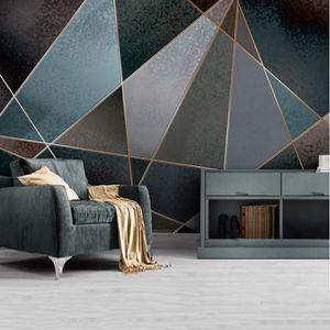 Sfondo Youe Shone Abstract Wallpaper geometrica Linea Color Block Retro Nostalgia moderna Minimalista Wall Light Picture