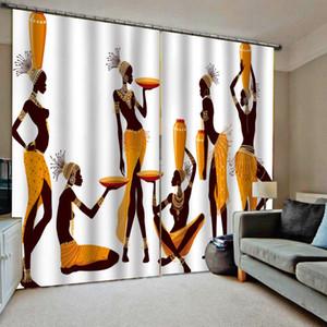 Personnalisé Toute taille Photo Retro Beauty Rideaux 3D Fenêtre Rideau 3D Imprimer Imprimé de luxe pour salon