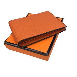 Chegada nova carteira de luxo dos homens 8 cores clássico designer de artesanato 100% de couro estilo Europeu titular do cartão de crédito carteira frete grátis caixa