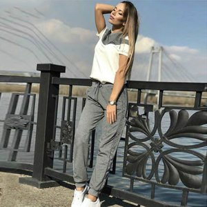 Summer Clothes For Women's Tracksuits Short Sleeve Cotton Pullover Sweatshirt 2 Piece Set Fashion Stitching Sporting Suit Female
