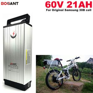 Batería de ión de litio de 60V 20AH para bicicleta original para Samsung 30B 18650 cell 1500W Batería de litio de bicicleta eléctrica de 60V Envío gratis