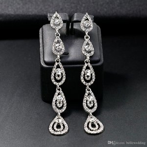 2018 Bridal Jewelry Crystal Earrings Stud Rhinestones Prom Party Earrings Wedding Jewelry for Bridesmaids Evening BW-228