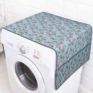 55*130cm Flower Patterned Waterproof Washing Machine Covers Household Refrigerator Cleaning Home Gear Organizer Household Cleaning Tools Hou