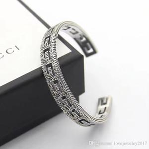 lüks tasarımcı bilezik Gümüş erkekler bilezik hollow out manşet bileklik açık pulsera bijoux güzel takı