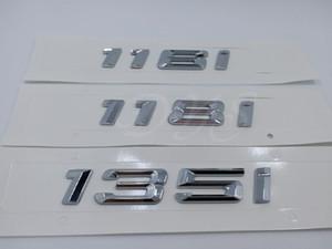 116i 118i 135i Chrome amblemi Rozet Çıkartması Numarası Harf Çıkartma BMW 1 serisi
