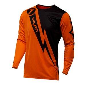 2018 Yeni Erkek Pro Takımı Yedi Portakal Motosiklet İniş Jersey Ropa MX Uzun Kollu Yarış Moto Giyim MTB Motokros Jersey