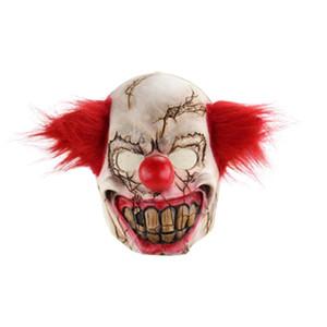 Ужас призрак Лицо клоуна Хэллоуин Рождество Занимался Bar Dance Party Реквизит Странный Latex Scary маска