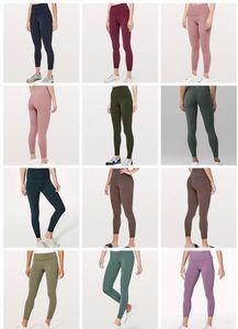 2020 diseñador Timlululemonlulu polainas pantalones de yoga de limón 32 016 25 78 mujeres deportes entrenamiento conjunto sin fisuras de camuflaje rosa yogaworld