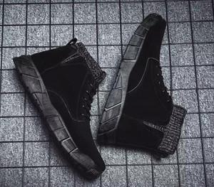 New Fly hommes bottes bottes d'hiver en tricot patchwork cheville extérieure bottes martin taille marron baskets noir 40-44