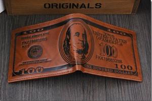 디자이너 패션 남성 남성 남성 지갑 도매 달러 지갑 지갑 믹스 가죽 디자이너의 창의력 카드 홀더 지갑