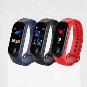 M3 Fitness Smart Bracelet IP67 waterproof Heart Rate Monitor Sleep monitoring smartwatch PK Mi Band Wristbands Detachable