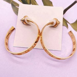 Freies Verschiffen 3Colors Echt Plaqué Huggie Band-Ohrringe Marke Gold / Silber / Rose Gold arbeitet heißen Verkauf Ohrringe