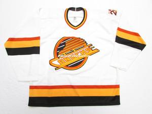 Дешевые пользовательские Ванкувер Кэнакс 1990 20-летие старинные СКМ хоккей Джерси мужская персонализированные любое имя номер шить трикотажные изделия XS-5XL