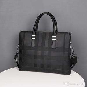Neue heiße Verkaufs-Marken-Entwerfer-Männer Schulter-Aktenkoffer aus schwarzem Leder Designer-Handtaschen-Geschäftsmann-Laptoptasche Messenger Bag 8041