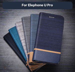 Vente en gros Étui portefeuille en cuir pour Elephone U Pro Cas de téléphone professionnel pour Elephone U Pro Flip Book Case doux Tpu Silicone Couverture arrière