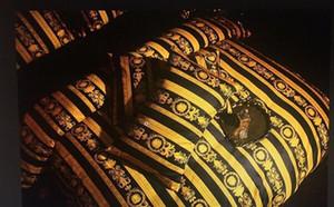 Роскошный отель в европейском стиле V Gold Black Egypte beding набор моды кровать Queen Size 200230 см пододеяльник Set Brand Design печати Постельные комплекты