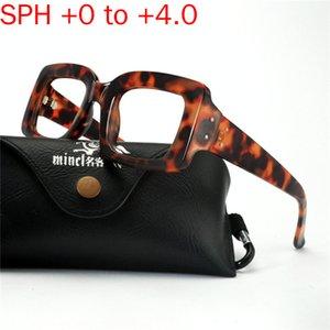 2020 Fashion Square Sun Photochromic Progressive óculos de leitura Leopard Ladies óculos de leitura Hipermetropia Multifocal NX