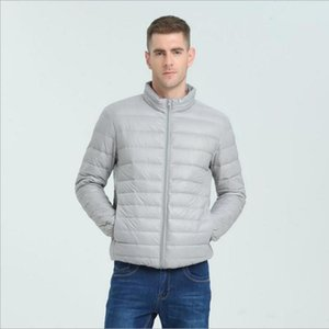 Men's Down & Parkas Autumn Winter Male Casual Ultralight Light Jackets Coat Fashion Men Lightweight Thin 90% White Duck Jacket Outwear