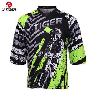 X-Tiger MTB Downhill Jerseys Mountain Cycling Bike T-Shirt Summer Comfortable Quick-Dry Motocross Jersey Bicycle DH Shirt