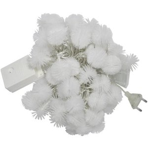 Battery plug Operated Furry Snowball String Lights Dandelion Christmas Fairy String Lights for Holiday, Wedding, Party Decoration