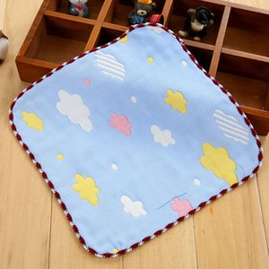 Baby's Kids Newborn Children Cotton Gauze Neck Tie Set Ties Square Handkerchiefs Animals Clouds Saliva Towel 22*23.5CM FS0585