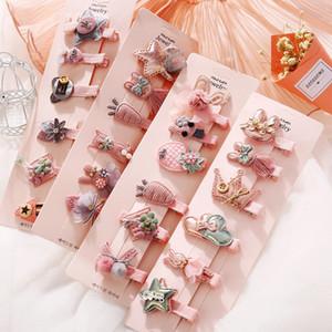 6pcs de dibujos animados niños pinzas de pelo lindo Arcos Ponytail de las horquillas para niñas mujeres linda accesorios para el cabello de moda