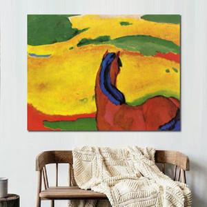 Peint à la main peintures Franz Marc cheval dans un décor mural art animal paysage abstrait