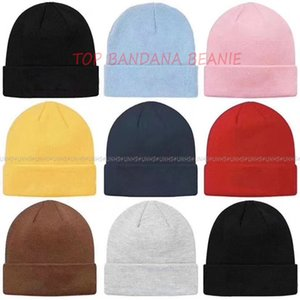 17fw - 19FW Bandana box logo Beanie classic street Unisex Spring winter Men Women fashion knitted casual HipHop outdoor warm CAP UNHS101