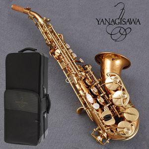 Высокое качество Япония Янагисава SC-992 SCWO20 изогнутый сопрано саксофон розового золота Профессиональный игровой инструмент изогнутый сопрано саксофон мундштук