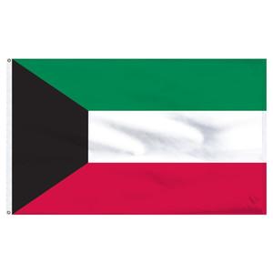 prezzo di fabbrica all'ingrosso 100% poliestere 3 x 5 fts 90 * 150 cm KW KWT KUWAIT bandiera per la decorazione
