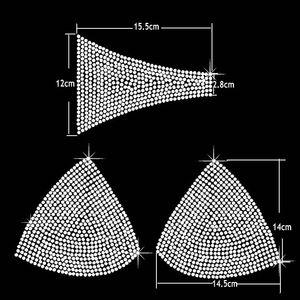 SS16 Big strass Iron Heat Transfers Bikini Concours de conception 20sets / lot