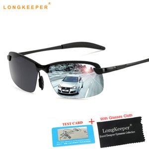 Marca Designer sem aro Mens óculos polarizados Anti-Brilho Sun óculos Unisex Óculos For Men Masculino Gafa masculino