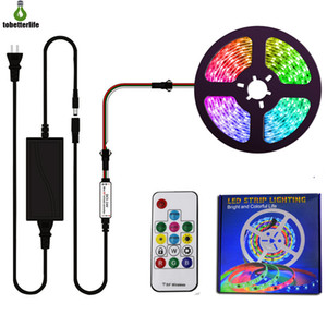 WS2811 12V RGB Pixel Strip Light Kit 30 / 60LEDS adressable RGB LED Light Strip IP20 IP65 IP67 avec 12V5A pilote du contrôleur à distance de contrôle