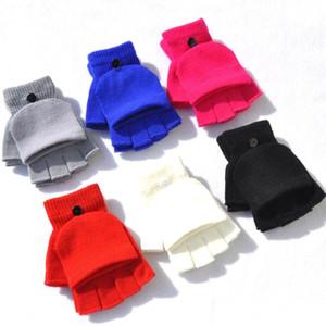 nuovi guanti per Ragazze Donne in maglia lanciano guanti di inverno caldo Flip Top Guanti Student Warm mezzi della barretta Mittens Homeware T2C5168