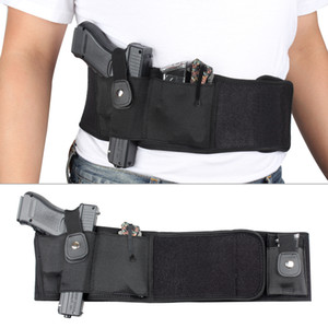 Ultimate Tactical Belly Band Holster para Carry Escondido Preto Fit Mid Tamanho Completo Compacto Revólver Subcompacto Revólver Caça Pistola