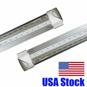 V Shaped 8FT LED Tube Lights 4FT 5FT 6FT 8 Feet LED T8 6000 Lems 56W 72W Double Side Integrated Fluorescent Lamp Crestech
