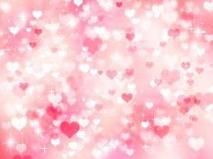 Rosa colores pastel del corazón del amor de Bokeh Fotografía Vinilo telones de fondo chispeante Photo Booth Fondos para el Día de San Valentín Studio Pro