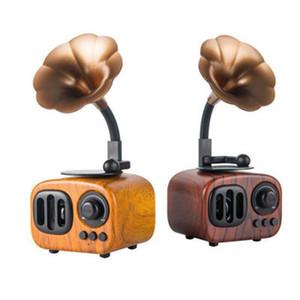Bluetooth Speaker American Retro Nostalgic Imitation Leave Machines Wireless Bluetooth Loudspeaker Box TF USB Mini Wireless Speaker 2 Colors