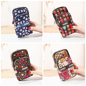 Creative Sports Arm Phone Bag Zipper Coin Wallet Flowers Printing Outdoor Students Gift Multi Function Small Wrist Bag 5 2fdH1