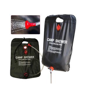 Accesorios de piscina Natación Bolsos de ducha solar de 20L Bolsa de manguera extraíble Baño al aire libre Camping Senderismo