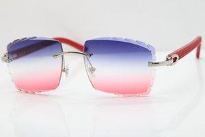 림없는 안경 남자 빨간색 aztec 선글라스 금속 믹스 팔 3524012 선글라스 유니섹스 암 무탄 선글라스 새겨진 C 장식 골드 프레임 안경