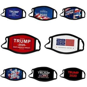 Tela Máscara Diseñador Trump Cara Boca elástico Luxury Mascarilla Máscara de impresión de Formación para el recorrido del partido contra la contaminación atmosférica reutilizable lavable Negro