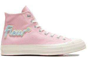 Golf Le Fleur х Chuck 70 Chenille Flames Привет Мужчины Женщины Star Skateborad обувь Мода GLF 1970 Высокий розовый синий холст Sneaker Размер 36-44