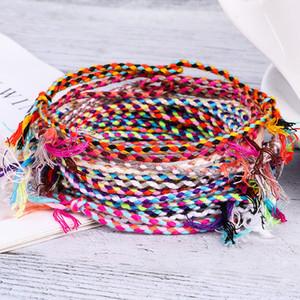 Boho VSCO девушки браслет веревочки 15 стилей Красочные тканые Струнный Rope Лаки Шарм Friendship Браслет Мужчины Женщины Лаки Браслет