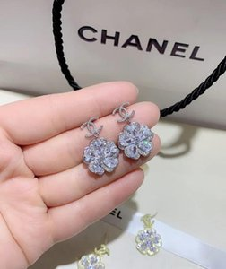 19 hot Korean version of the trend of rhinestones 925 silver needle net red letters diamond stud earrings simple temperament earrings A1313#